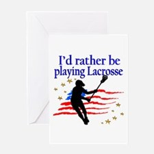 LACROSSE PLAYER Greeting Card