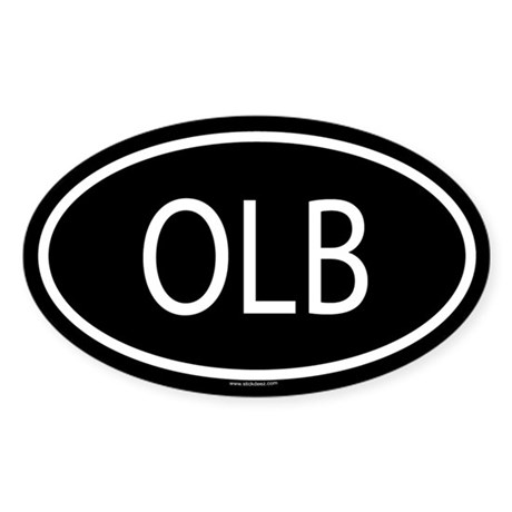 OLB Oval Sticker