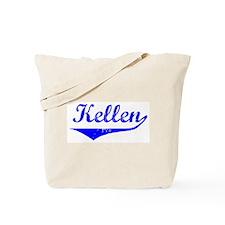 Kellen Vintage (Blue) Tote Bag