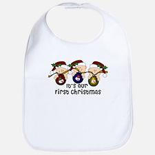 2007Triplets First Christmas Bib