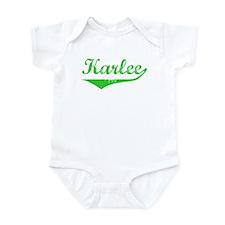 Karlee Vintage (Green) Infant Bodysuit