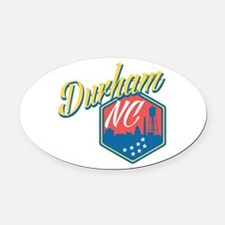 Durham, NC Oval Car Magnet