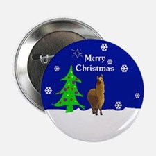 "Alpaca Merry Christmas 2.25"" Button"