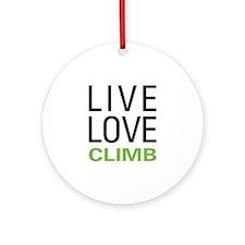 Live Love Climb Ornament (Round)