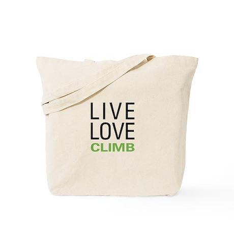 Live Love Climb Tote Bag