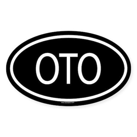 OTO Oval Sticker