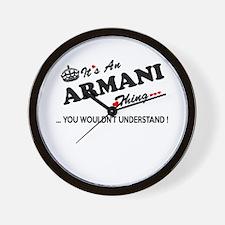 Cute Armani Wall Clock
