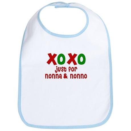 XOXO for Nonna & Nonno Bib