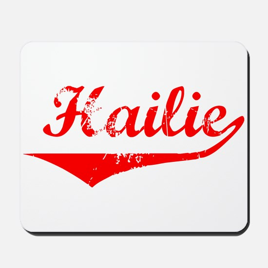 Hailie Vintage (Red) Mousepad