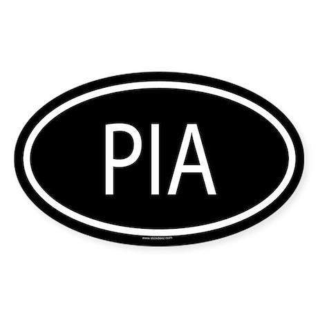 PIA Oval Sticker