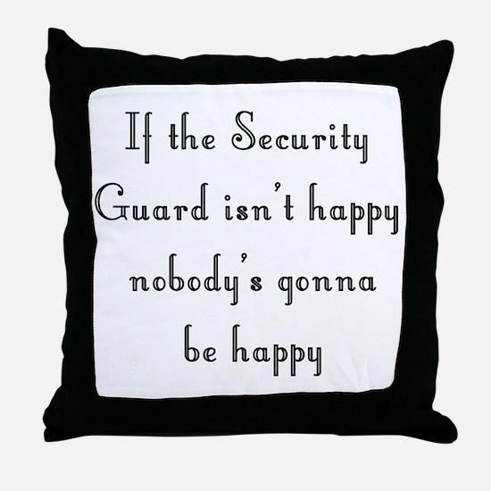 Security Guard Throw Pillow