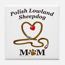 POLISH LOWLAND SHEEPDOG Tile Coaster