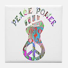 PEACE POWER Tile Coaster