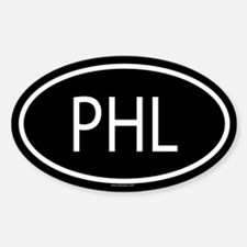 PHL Oval Bumper Stickers