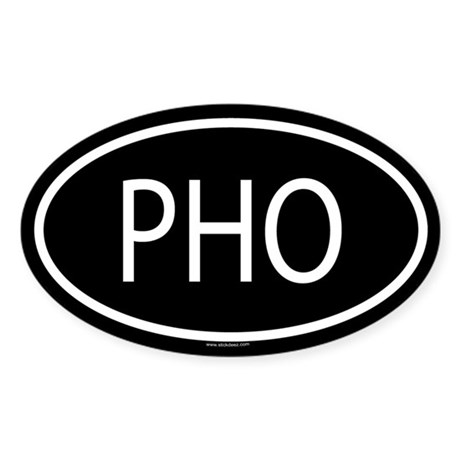 PHO Oval Sticker