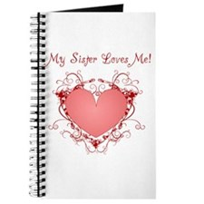 My Sister Loves Me Heart Journal
