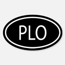 PLO Oval Decal