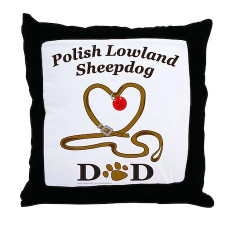 POLISH LOWLAND SHEEPDOG Throw Pillow