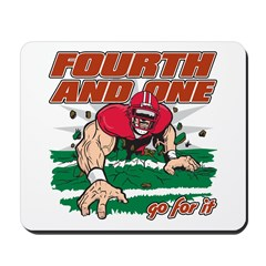 Fourth and One Football Mousepad