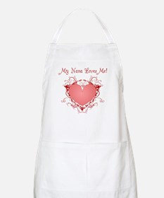My Nana Loves Me Heart BBQ Apron