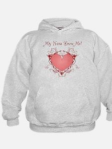 My Nana Loves Me Heart Hoodie