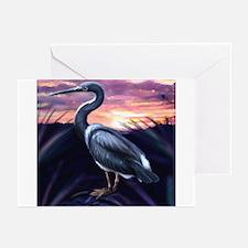 Blue Heron at Sunset Greeting Cards (Pk of 10)