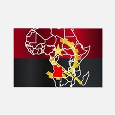 Cute Angolan flag Rectangle Magnet