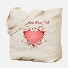My Mimi Loves Me Heart Tote Bag