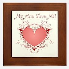 My Mimi Loves Me Heart Framed Tile