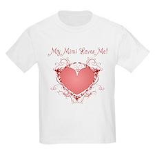 My Mimi Loves Me Heart T-Shirt