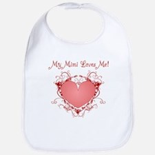My Mimi Loves Me Heart Bib