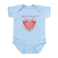 My Mimi Loves Me Heart Infant Bodysuit