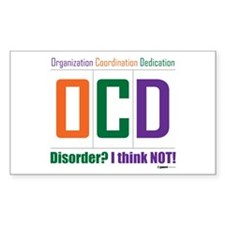 Celebrate OCD Rectangle Decal