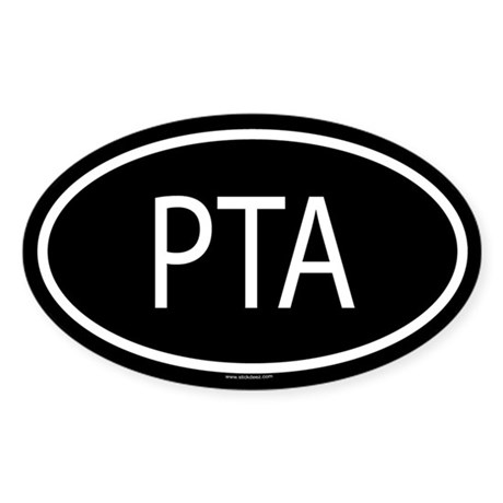 PTA Oval Sticker