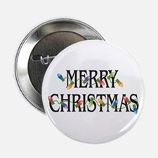 """Merry Christmas 2.25"""" Button (100 pack)"""