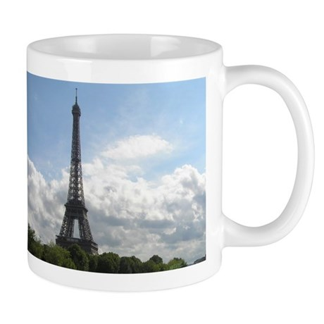 Seine River Boat & Eiffel Tower Photos Mug