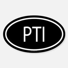 PTI Oval Decal
