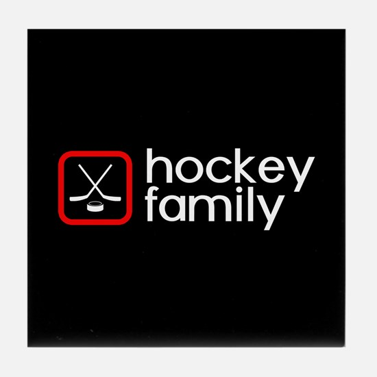 Hockey Family (Red) Tile Coaster