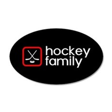 Hockey Family (Red) Wall Decal