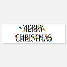 Merry Christmas Bumper Bumper Bumper Sticker
