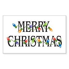 Merry Christmas Rectangle Decal