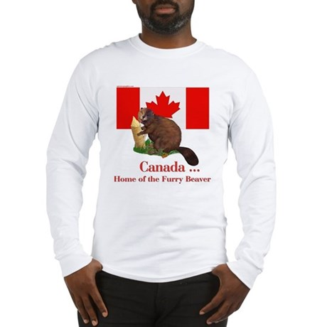 Canada - Beaver Home Long Sleeve T-Shirt