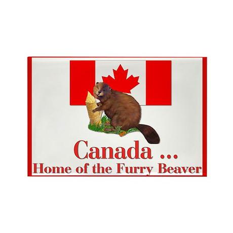 Canada - Beaver Home Rectangle Magnet