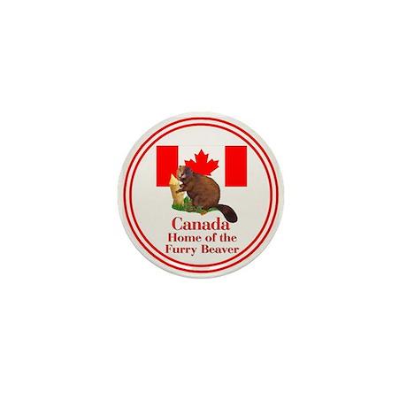 Canada - Beaver Home Mini Button (10 pack)