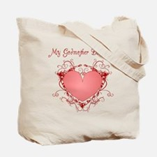 My Godfather Loves Me Heart Tote Bag