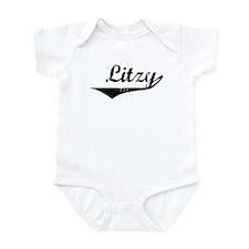 Litzy Vintage (Black) Infant Bodysuit