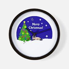 Himalayan Merry Christmas Wall Clock