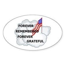 Remember our Soldiers Oval Decal
