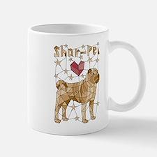 Geometric Shar-Pei Mugs