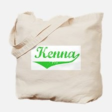 Kenna Vintage (Green) Tote Bag